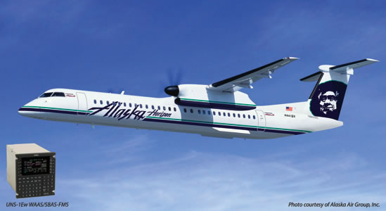 Bombardier Q400 Fleet Equipped with Dual UNS-1Ew Flight Management Systems