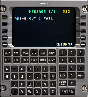 New Universal Avionics FMS Software Offers Significant Savings  with ADS-B Out Failure Messaging