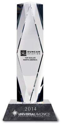 Universal Avionics Announces Duncan Aviation as 2014 Top Dealer North America