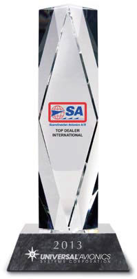 Universal Avionics Announces Scandinavian Avionics as 2013 Top Dealer International for Second Consecutive Year