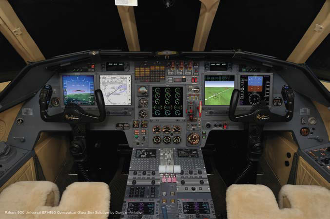 Universal Avionics Partners with Duncan Aviation on Falcon 900B Retrofit Package
