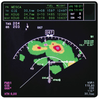 Nav Display with 120º Map View and     Radar