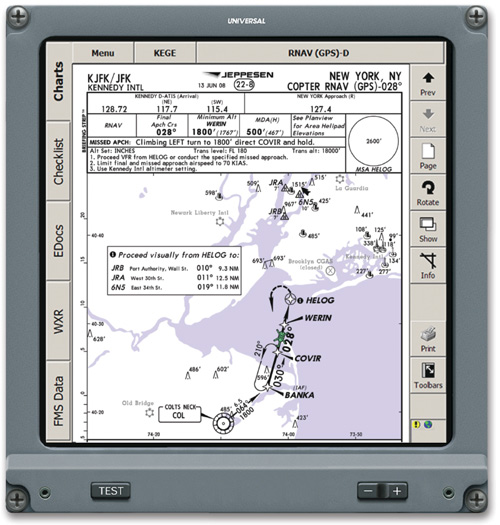 Nav Display with     Electronic Charts