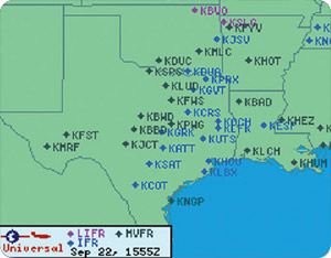 Weather Graphics - IFR / MVFR