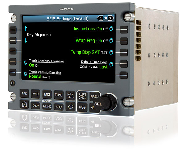 Universal Avionics Receives TSOA for InSight™ Touchscreen Control